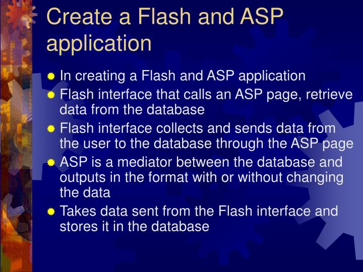 Create a Flash and ASP application