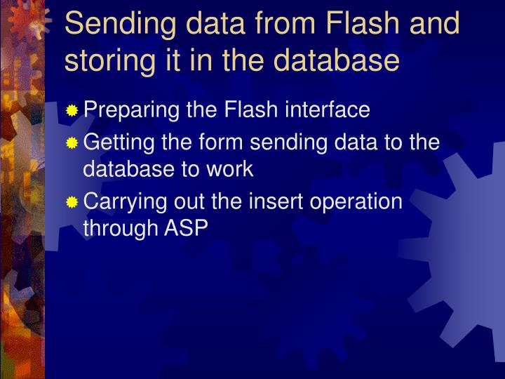 Sending data from Flash and storing it in the database