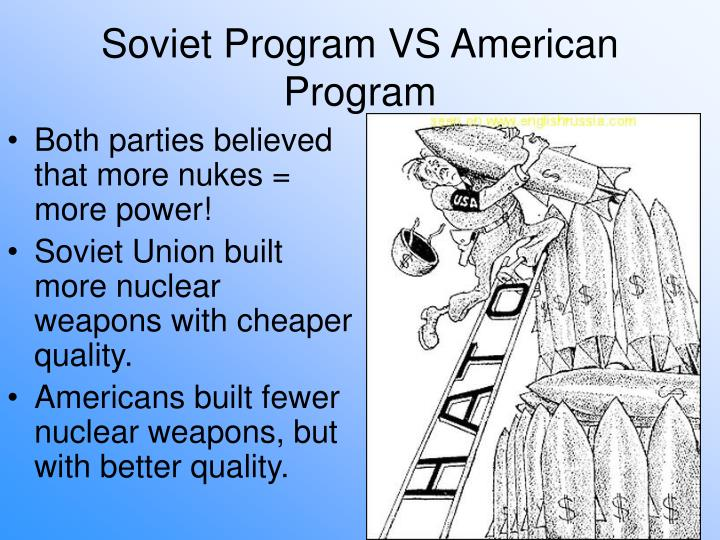 Both parties believed that more nukes = more power!
