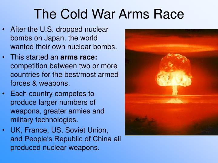 After the U.S. dropped nuclear bombs on Japan, the world wanted their own nuclear bombs.