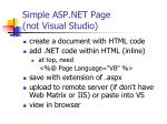 simple asp net page not visual studio