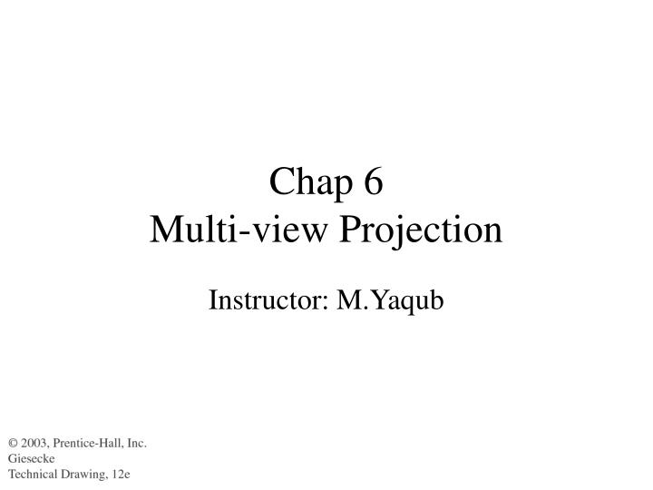 chap 6 multi view projection n.
