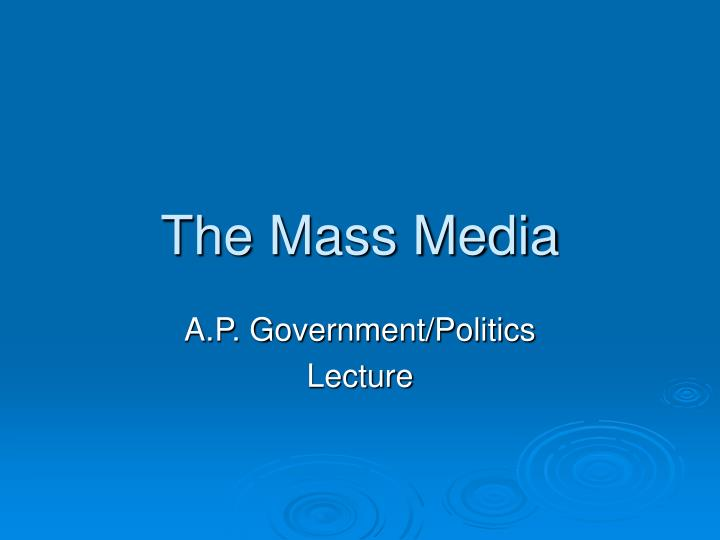 overview of media effects on us politics Ever since internet use became a notable part of political media in the late 1990s, there have been intense debates about the impact of the internet on politics.
