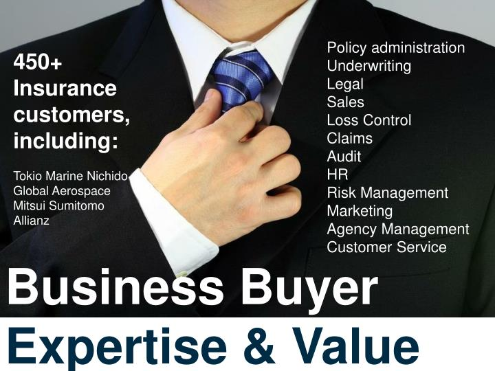 Business buyer expertise value