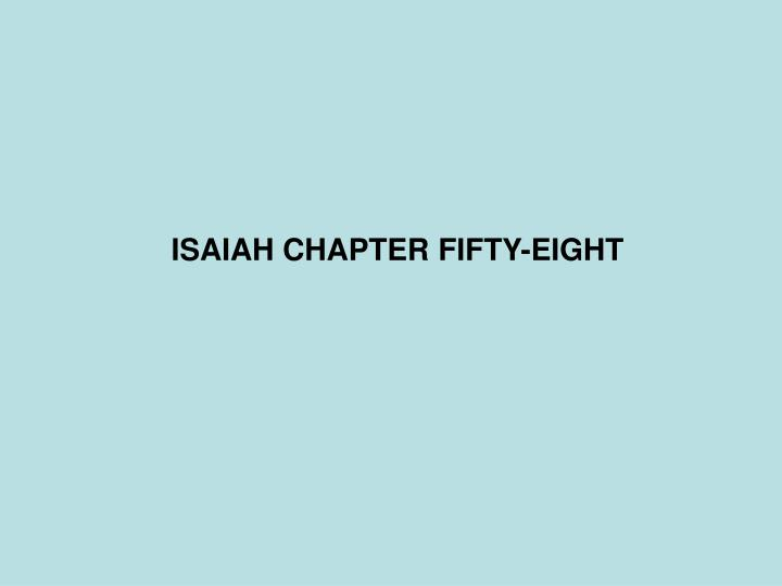 isaiah chapter fifty eight n.