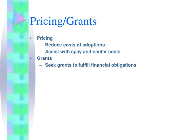 Pricing/Grants