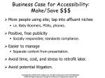 business case for accessibility make save
