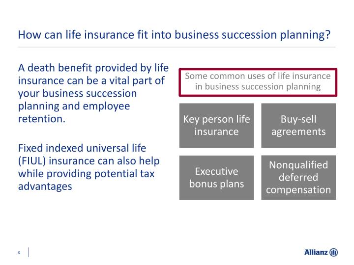 How can life insurance fit into business succession planning?