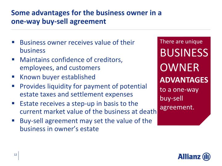Some advantages for the business owner in a