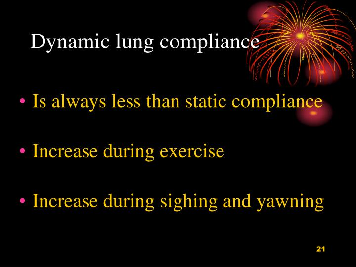 Dynamic lung compliance