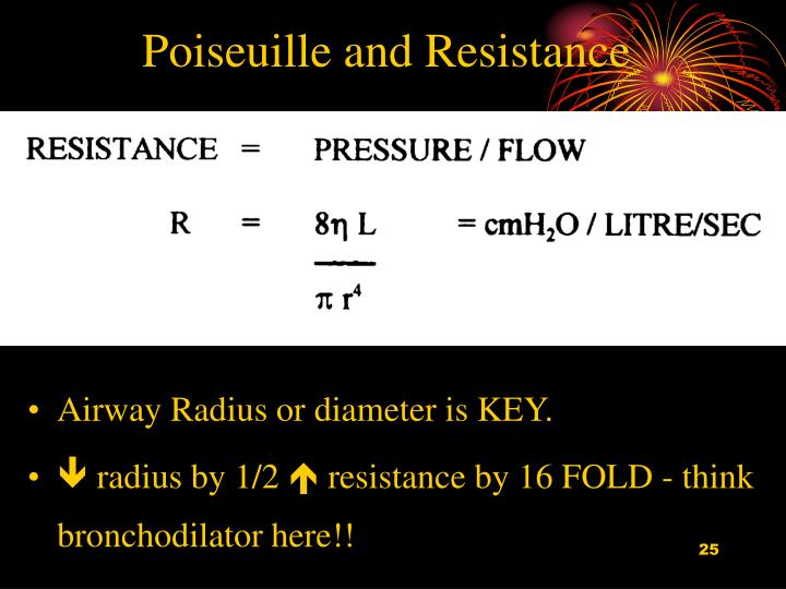 Poiseuille and Resistance