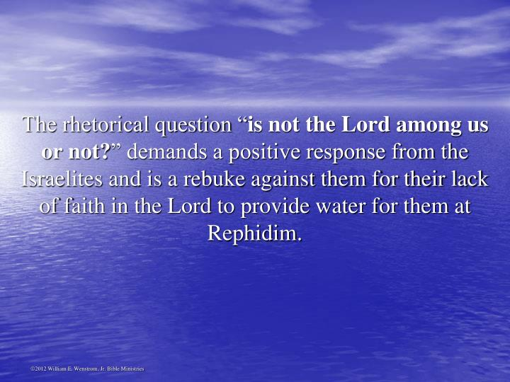 "The rhetorical question """