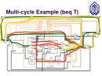 multi cycle example beq t1