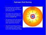 hydrogen shell burning