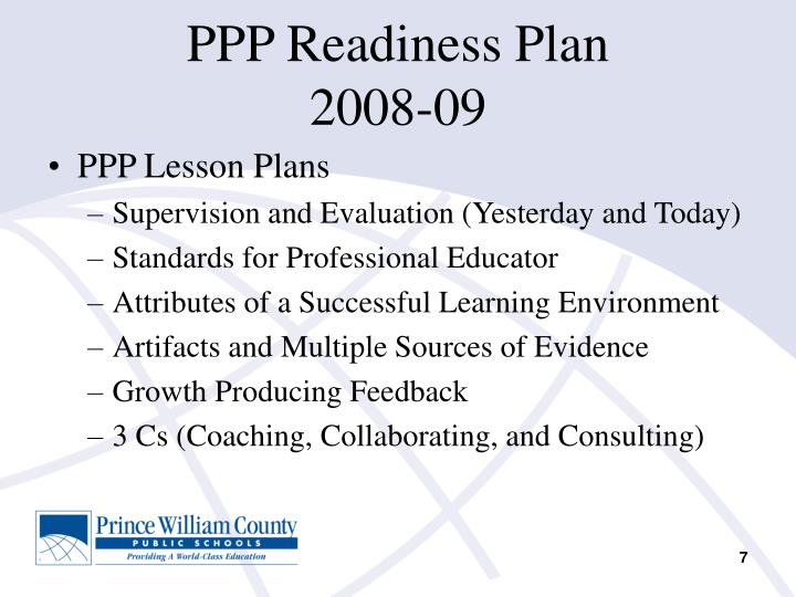PPP Readiness Plan