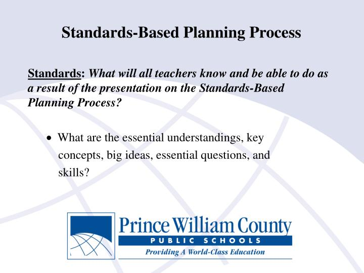 Standards-Based Planning Process
