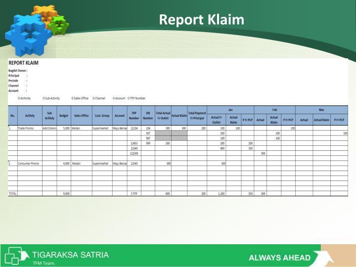 Report Klaim