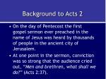background to acts 2