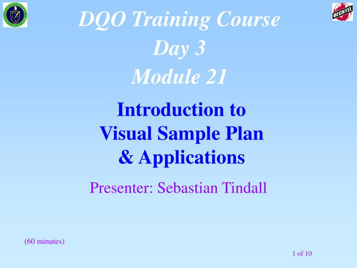 Introduction to visual sample plan applications