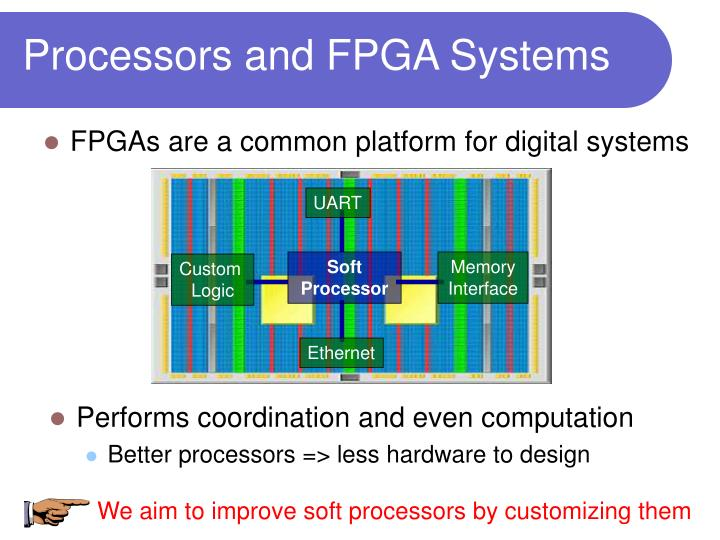 We aim to improve soft processors by customizing them
