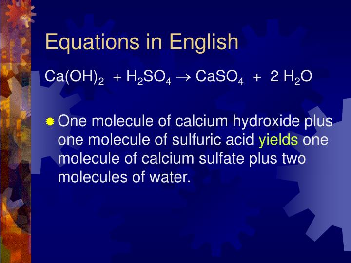 Equations in English