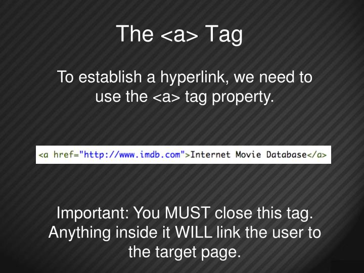 The <a> Tag