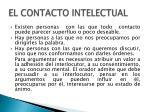 el contacto intelectual1