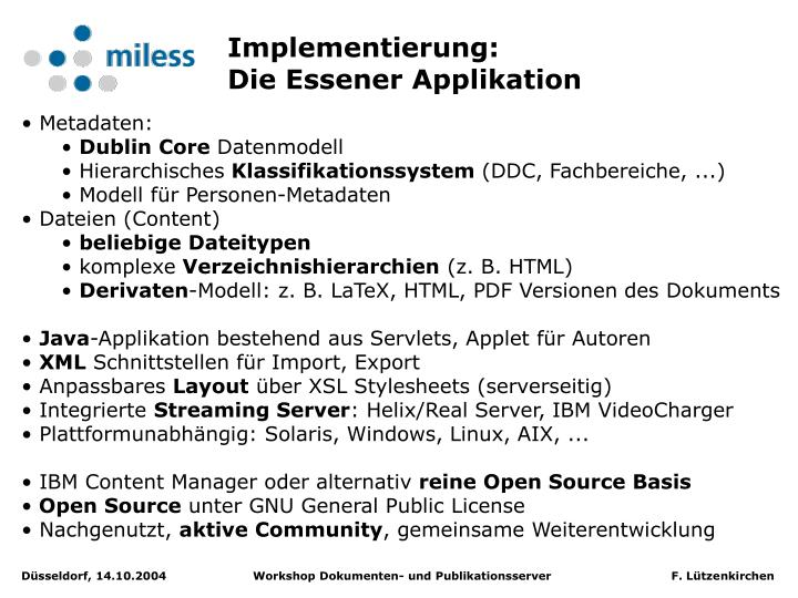 Implementierung: