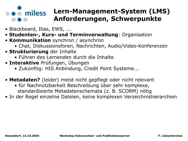 Lern-Management-System (LMS)