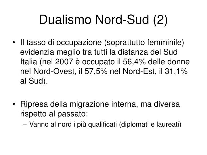 Dualismo nord sud 2