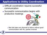 applications to utility coordination1