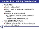 applications to utility coordination2