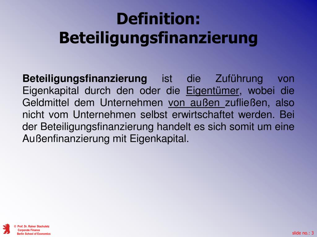 Studiengang Definition