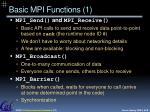 basic mpi functions 1