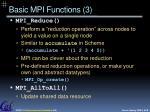 basic mpi functions 3