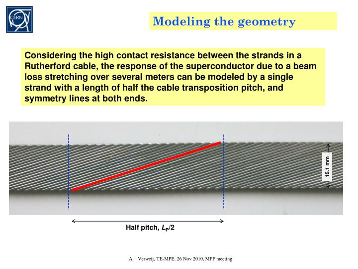 Modeling the geometry