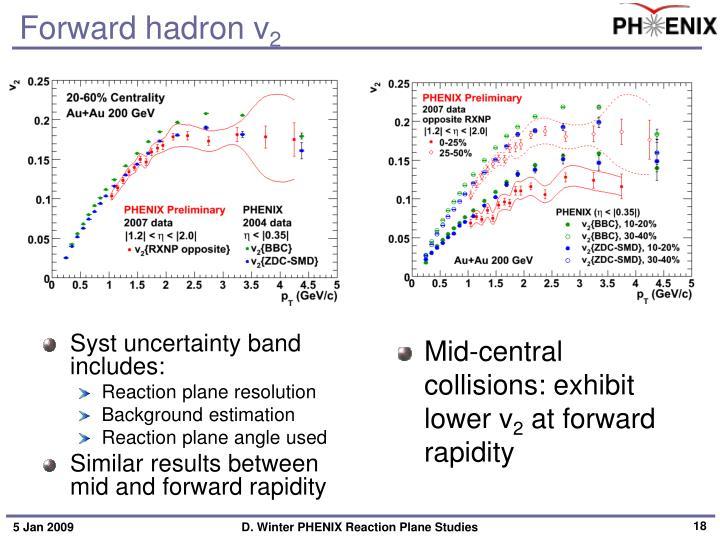 Forward hadron v