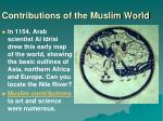 contributions of the muslim world2