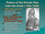 rulers of the kievan rus ivan the great 1462 1505