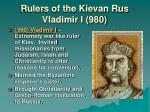 rulers of the kievan rus vladimir i 980