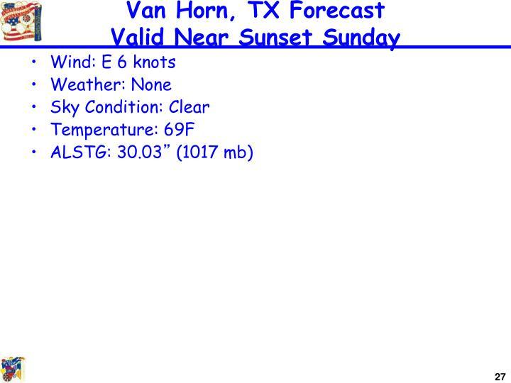 Van Horn, TX Forecast