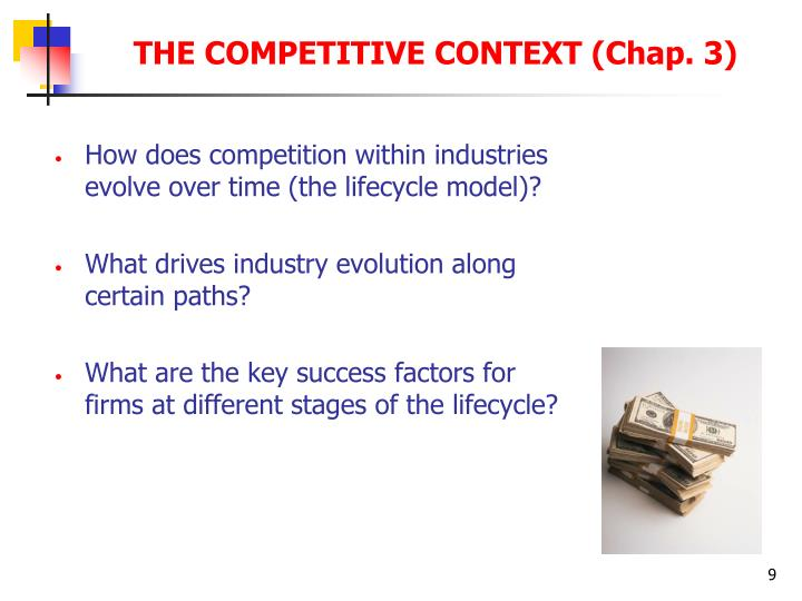 How does competition within industries evolve over time (the lifecycle model)?