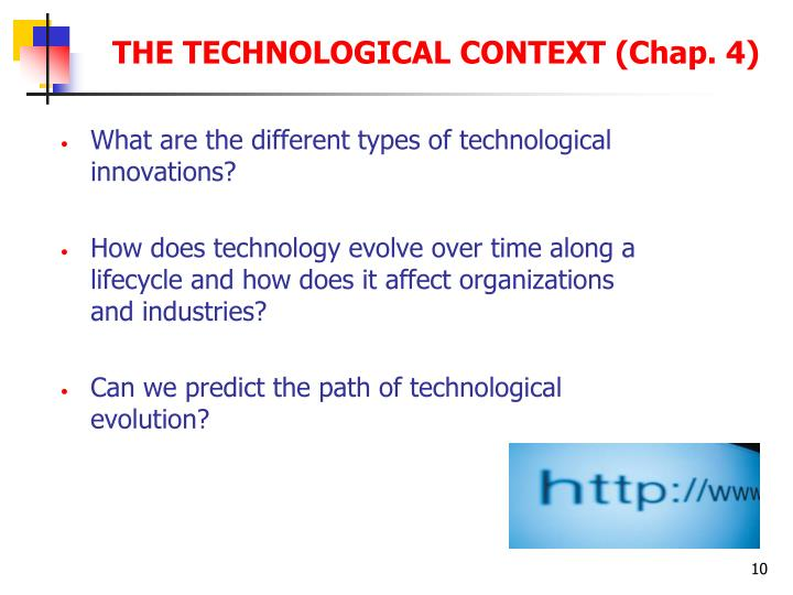 What are the different types of technological innovations?