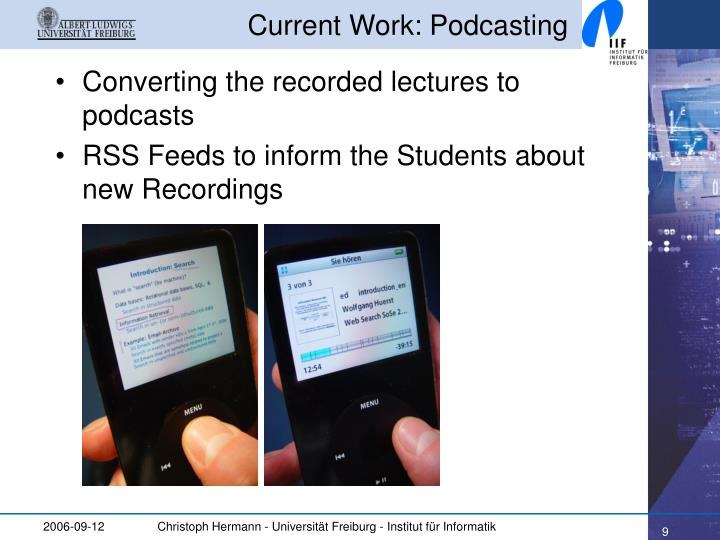Current Work: Podcasting