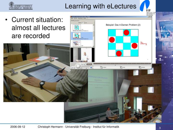 Learning with electures