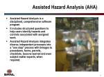 assisted hazard analysis aha