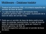 middleware database traslator