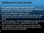 middleware de base de datos