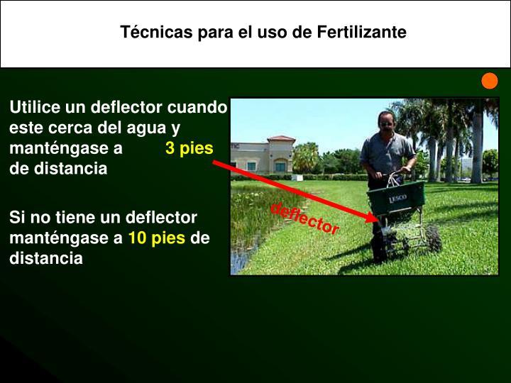 Técnicas para el uso de Fertilizante