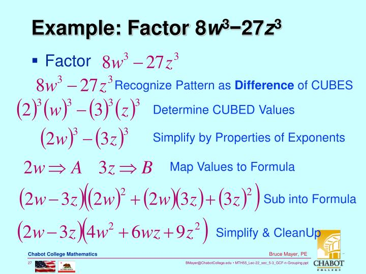 Example: Factor 8